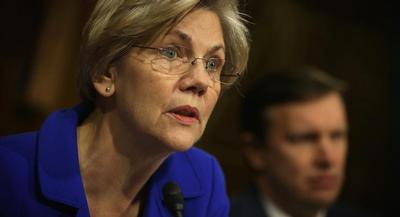 Sen. Elizabeth Warren is now her party's leading liberal alternative to Clinton, a role she clearly relishes. | GETTY