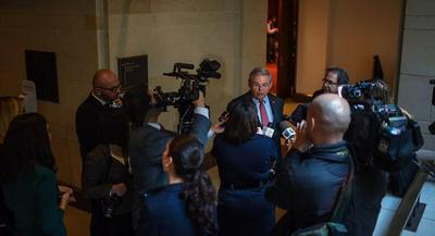 Sources familiar with the probe say DOJ has cast a wide net during the Menendez probe. | JOHN SHINKLE/POLITICO