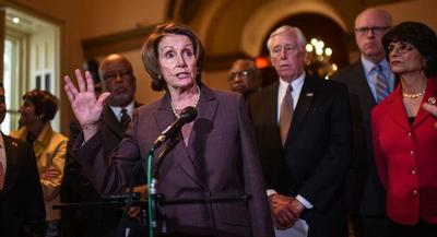 "Democratic Leader Nancy Pelosi has repeatedly said she wants to bring her caucus toward a ""yes"" on trade deals. 