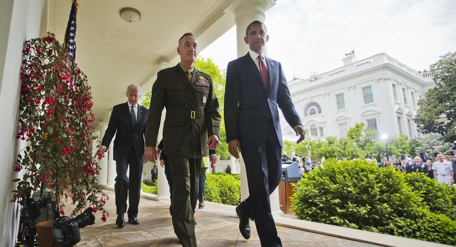 Joe Dunford and the president worked closely to plot the planned American military withdrawal from Afghanistan.   AP