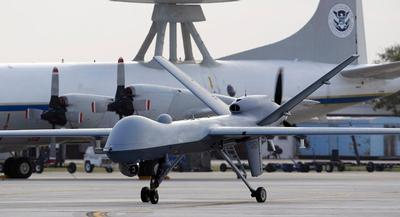 Fewer respondents were 'very' concerned that drone strikes were being conducted legally or could damage the reputation of the United States. | AP