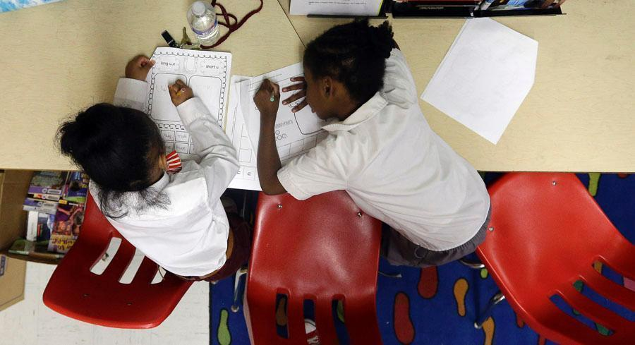 California doesn't have to collect and report statewide assessment data on its students in grades three through eight this year while it tries out new Smarter Balanced tests. | AP