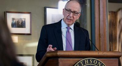 Dr. David Skorton called the move a once-in-a-lifetime opportunity to help integrate the arts and sciences. | AP