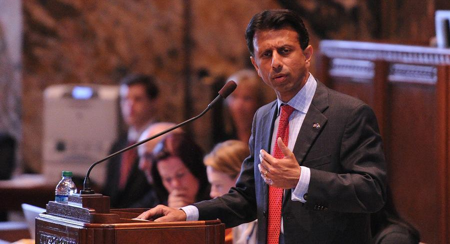 Republican Gov. Bobby Jindal should withdraw from PARCC on his own authority, a group of state lawmakers wrote. | AP