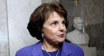 At the end of her 40-minute speech, DIanne Feinstein demanded an apology from the CIA. | AP