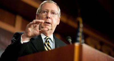 McConnell may allow reform advocates a vote on legislation called the USA Freedom Act that would end the bulk data collection. | JAY WESTCOTT/POLITICO