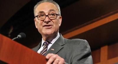 Sen. Chuck Schumer is at odds with the White House on Iran. | JOHN SHINKLE/POLITICO