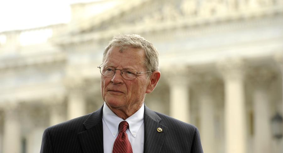 The Republicans were led by Chairman Jim Inhofe of Oklahoma. | JOHN SHINKLE/POLITICO