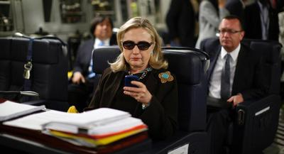 Clinton forwarded 55,000 pages of emails from the account to the agency in December in response to a request for any work-related emails she or prior secretaries of state sent or received on personal accounts. | AP