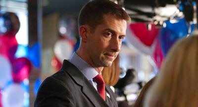 The goal of the buy is to add some badly needed positive messaging around Tom Cotton. | AP