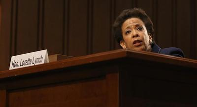 Democratic leader lambasted Republicans' 'embarrassing' handling of Lynch's nomination. | GETTY