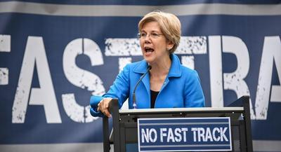 Elizabeth Warren is the anointed leader of the most progressive portion of her party.   JOHN SHINKLE/POLITICO