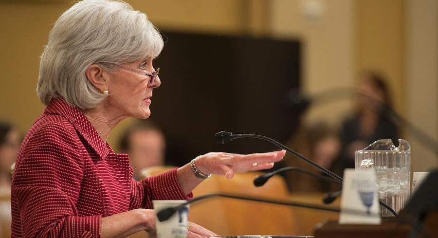 At the House Ways and Means hearing on the HHS budget, Kathleen Sebelius defended the agency's prerogative to provide 'special enrollment periods' for some. | GETTY