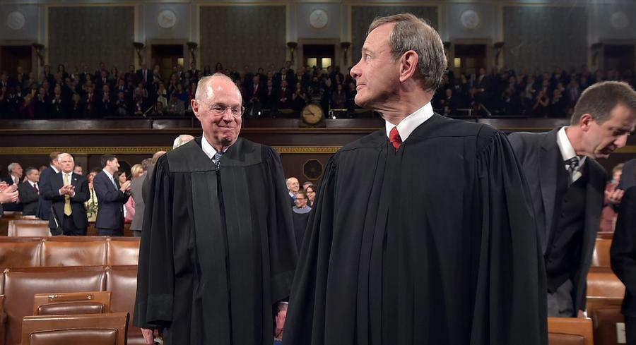 The court is likely to split largely along ideological lines with Kennedy or Roberts casting the deciding vote.   AP
