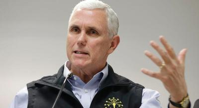 Indiana Gov. Mike Pence said the outbreak was '100 percent' linked to drug abuse. | AP