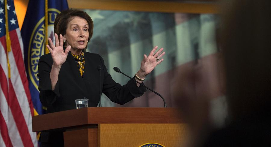 Nancy Pelosi said Thursday morning that it 'shouldn't take a long time' for the Senate to take up the bill. | AP