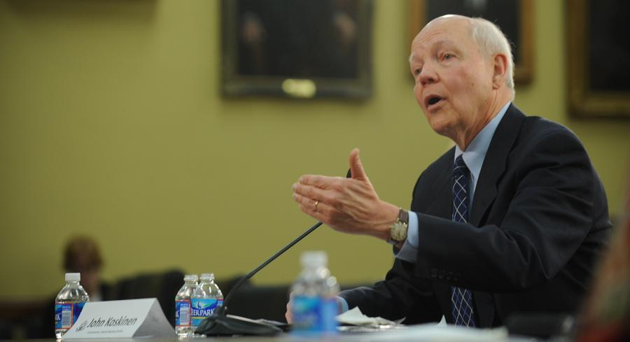 'We've had a very successful filing season this year — it's gone without a visible glitch,' IRS Commissioner John Koskinen said. | JOHN SHINKLE / POLITICO