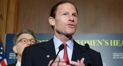 For Sen. Richard Blumenthal, some of train wrecks have hit close to home. | AP