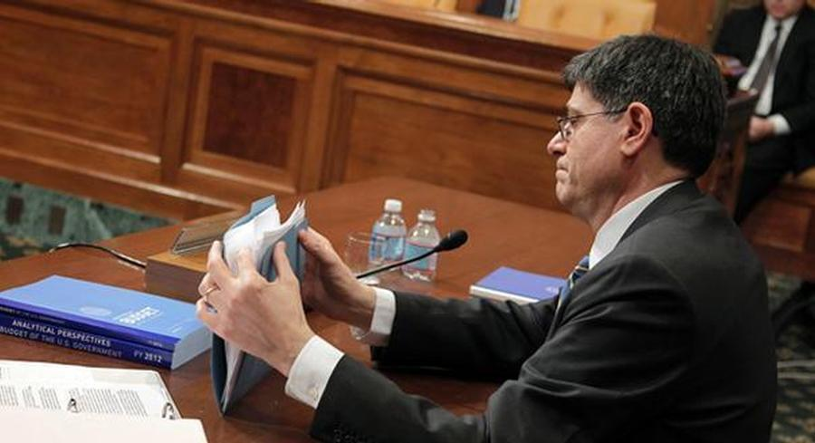 U.S. Treasury Secretary Jack Lew spoke Thursday at a news conference in Beijing. | AP