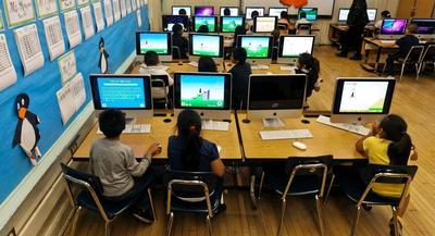 Venture capital investment in education technology for the preschool-through-high-school market is up 6 percent from 2012. | AP