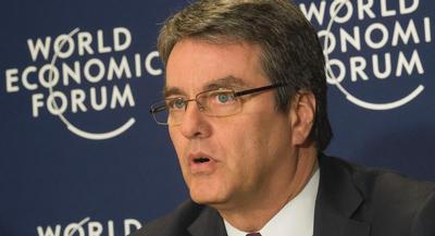 """Because while it's clear to me that the WTO needs America, I also think America needs the WTO,"" World Trade Organization Director-General Roberto Azevedo said in a speech to the U.S. Chamber of Commerce. 