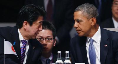President Barack Obama and his Japanese counterpart, Prime Minister Shinzo Abe, couldn't announce any major breakthroughs in the TPP negotiations. | GETTY