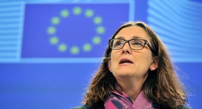 """""""ISDS is now the most toxic acronym in Europe,"""" Malmström said on Monday.   GETTY"""