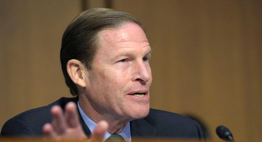 Sen. Richard Blumenthal welcomed the safety improvements at the accident-plagued Metro-North Railroad but said he's not satisfied. | AP