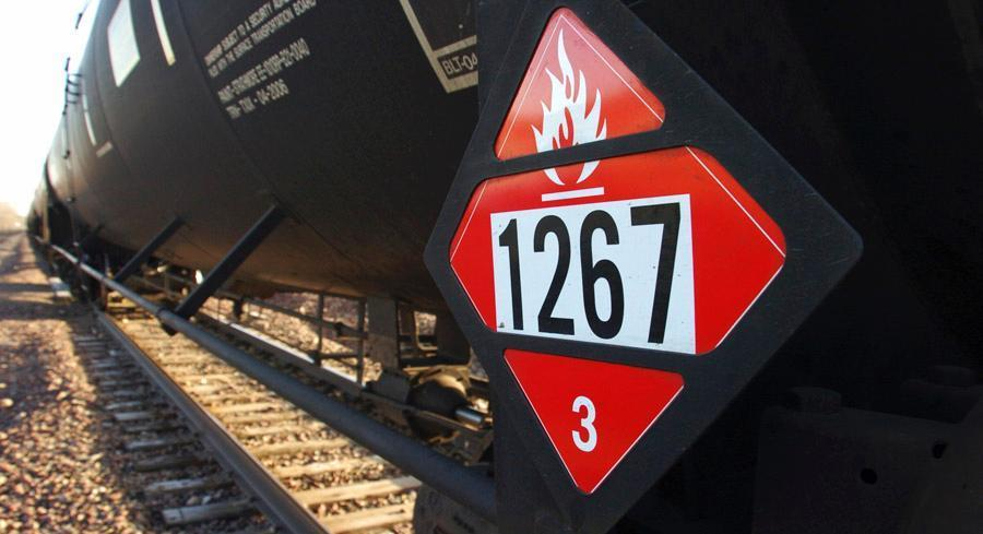 The rules include stiffer construction standards for rail tank cars made after Oct. 1. | AP