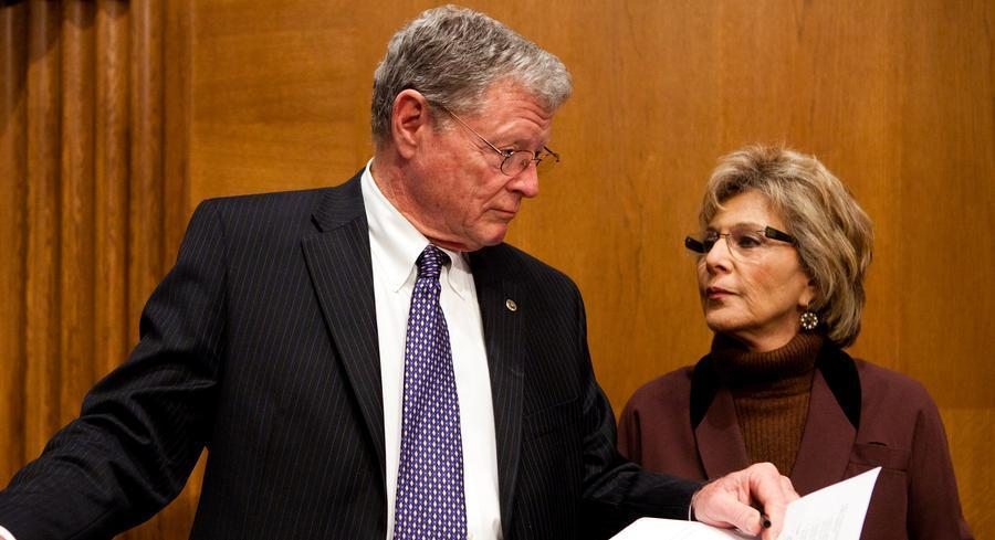 Sen. Barbara Boxer, the ranking EPW Democrat, shot down Sen. Jim Inhofe's plan on Friday. | GETTY